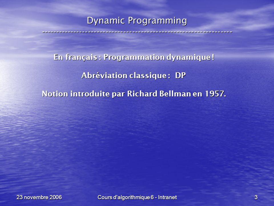 Dynamic Programming -----------------------------------------------------------------