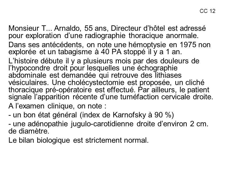 A l'examen clinique, on note :