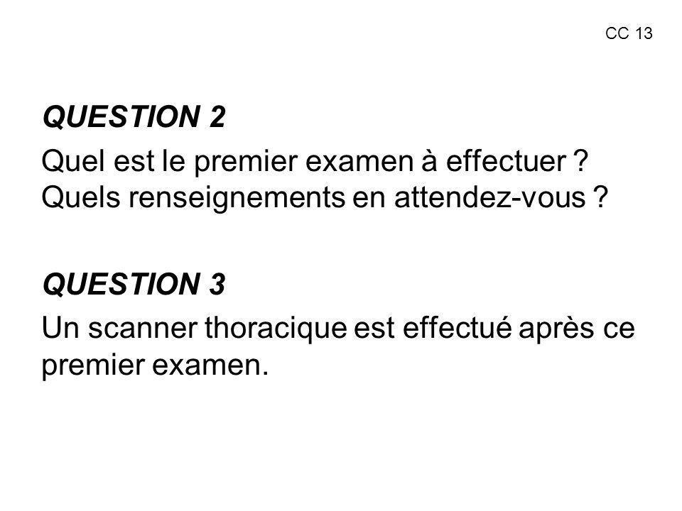 Un scanner thoracique est effectué après ce premier examen.