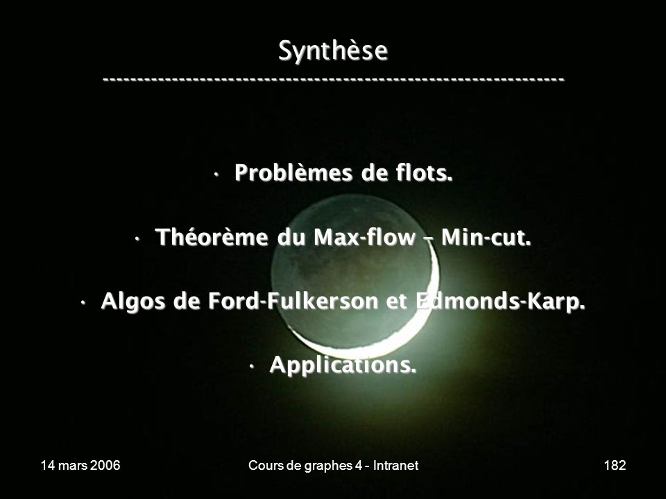 Synthèse -----------------------------------------------------------------