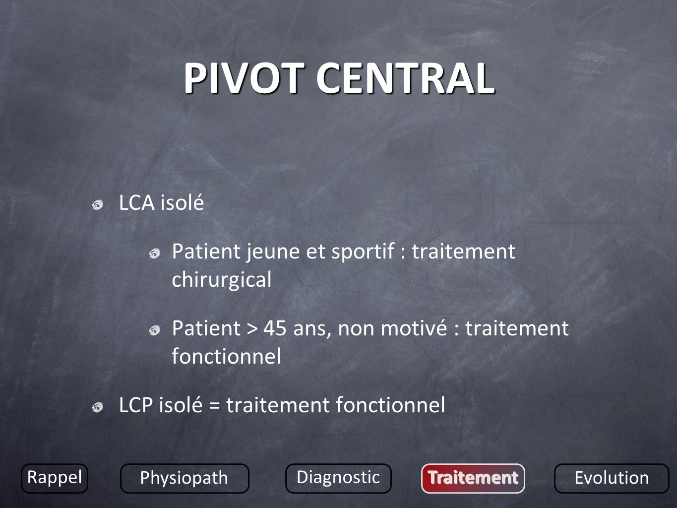 PIVOT CENTRAL LCA isolé