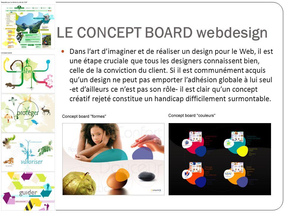 LE CONCEPT BOARD webdesign