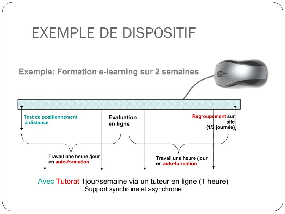 EXEMPLE DE DISPOSITIF