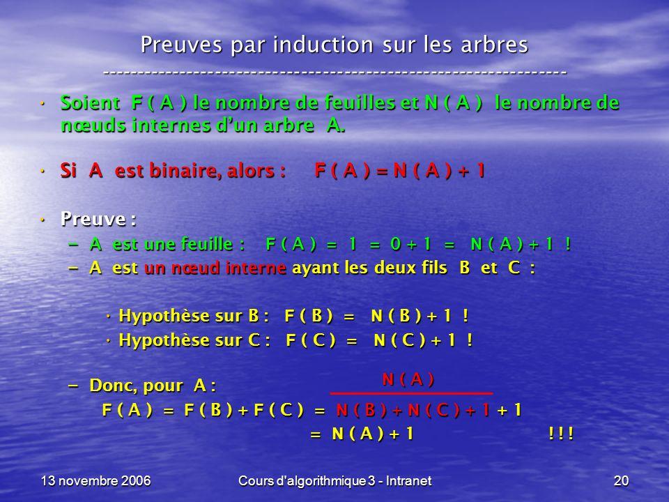 Cours d algorithmique 3 - Intranet