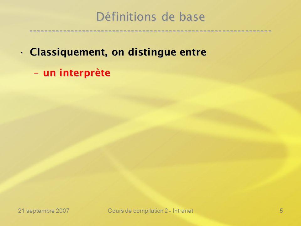 Cours de compilation 2 - Intranet