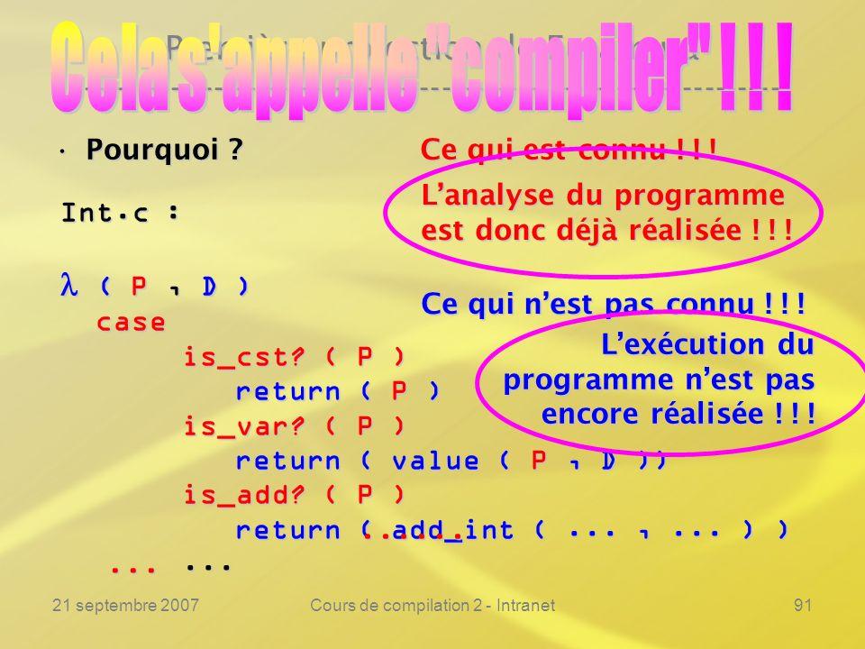 Cela s appelle compiler ! ! !