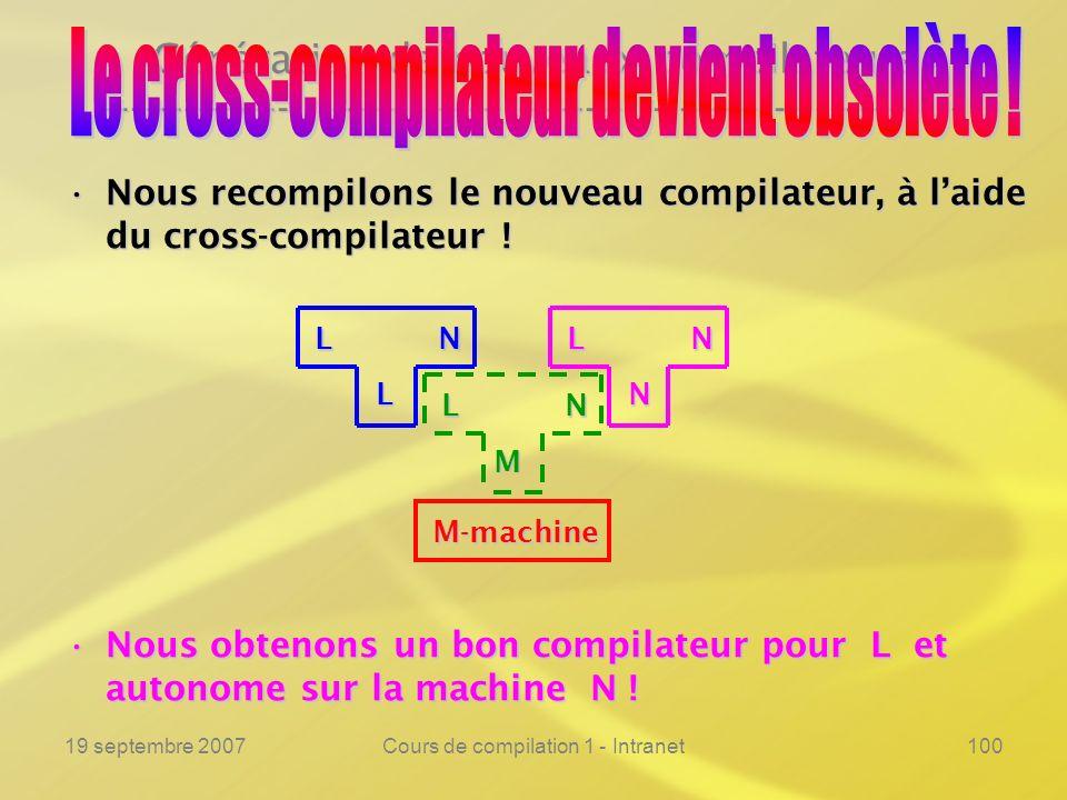 Le cross-compilateur devient obsolète !