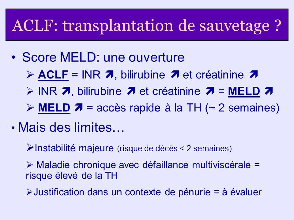 ACLF: transplantation de sauvetage