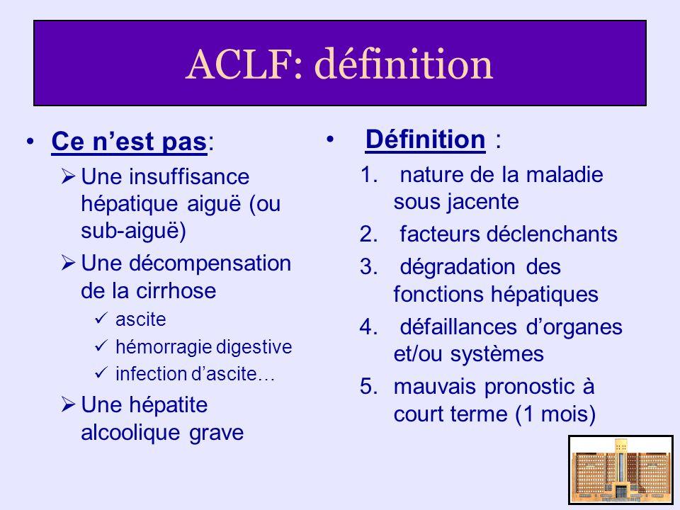 ACLF: définition Ce n'est pas: Définition :