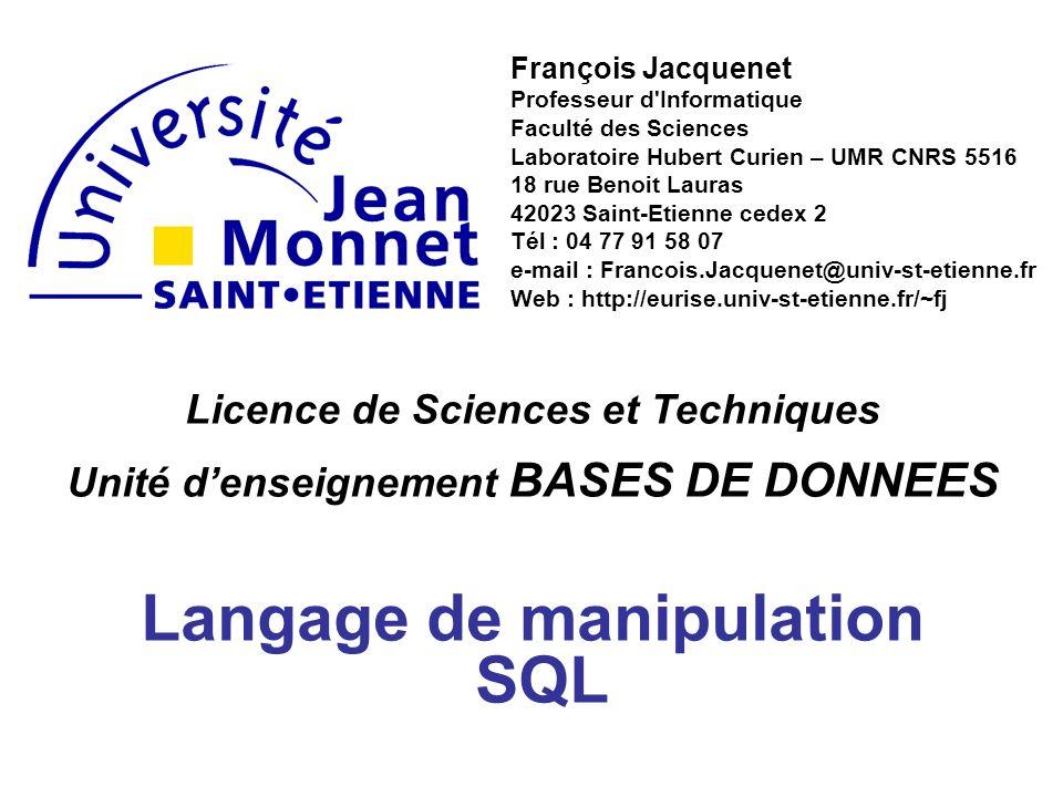 Langage de manipulation SQL