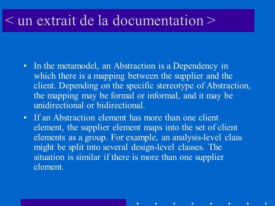< un extrait de la documentation >