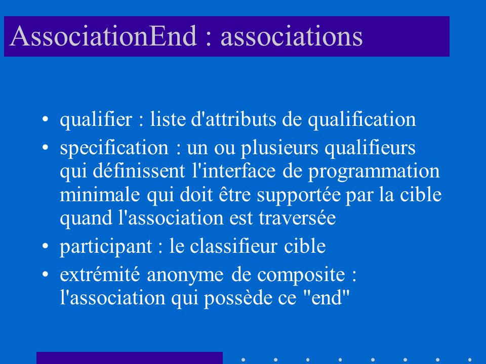 AssociationEnd : associations