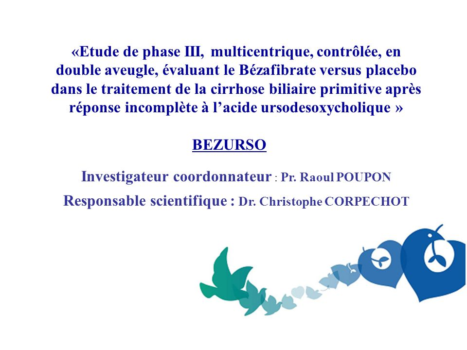 Responsable scientifique : Dr. Christophe CORPECHOT