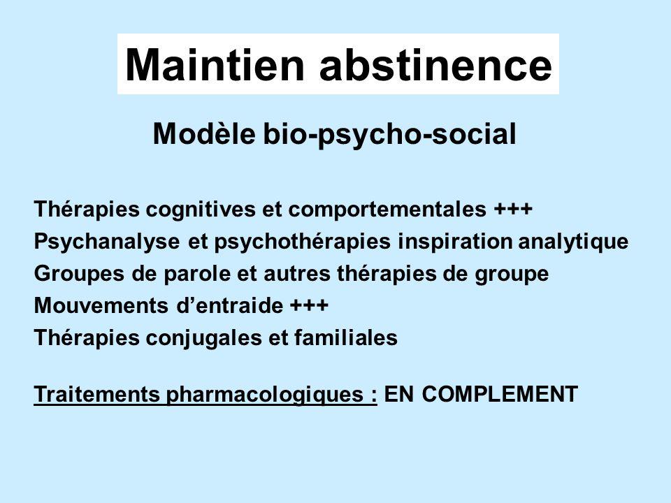 Maintien abstinence Modèle bio-psycho-social