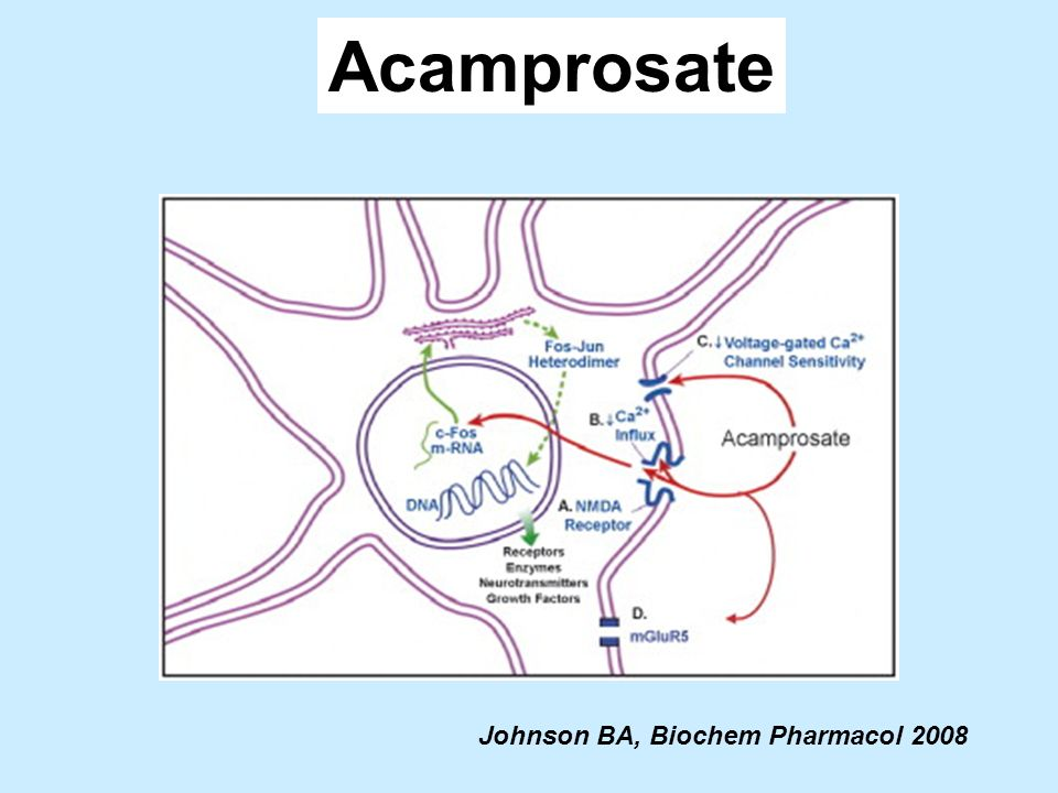 Acamprosate Johnson BA, Biochem Pharmacol 2008