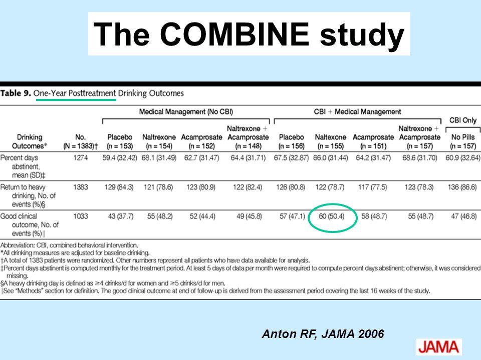 The COMBINE study Anton RF, JAMA 2006