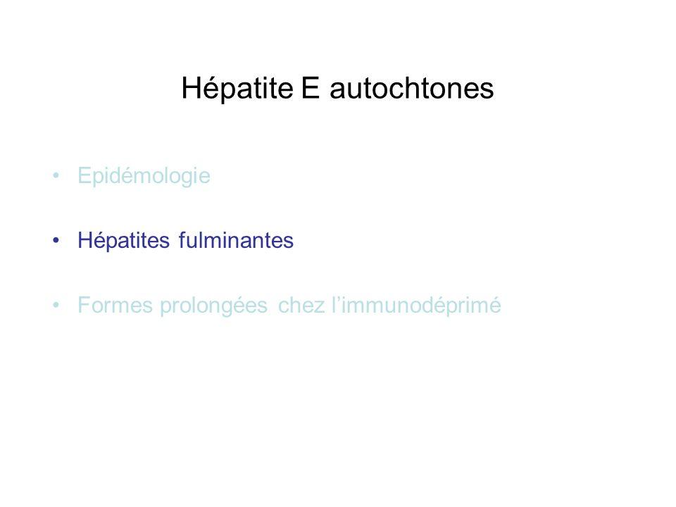 Hépatite E autochtones