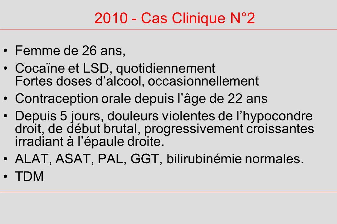 2010 - Cas Clinique N°2 Femme de 26 ans,