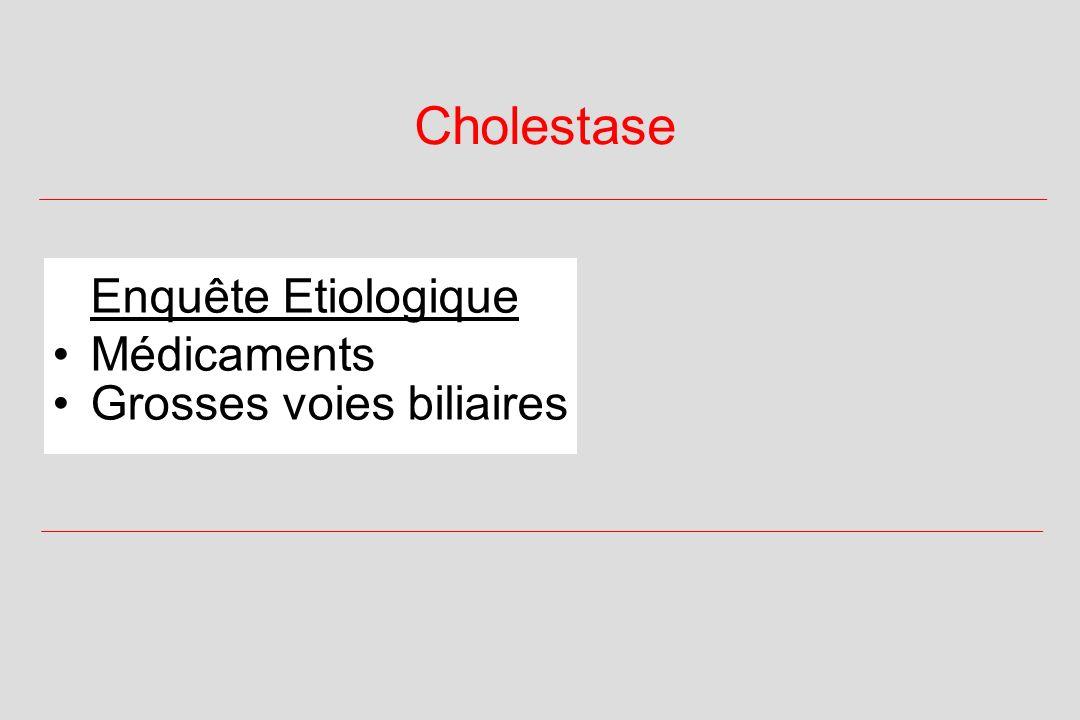 Cholestase Enquête Etiologique Médicaments Grosses voies biliaires