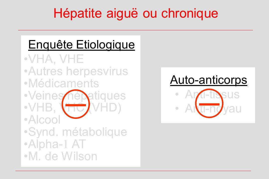 Hépatite aiguë ou chronique