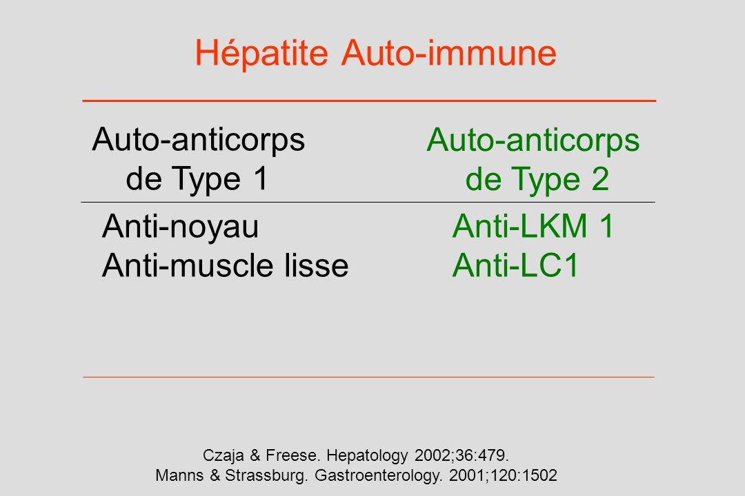 Hépatite Auto-immune Auto-anticorps de Type 1 Auto-anticorps de Type 2