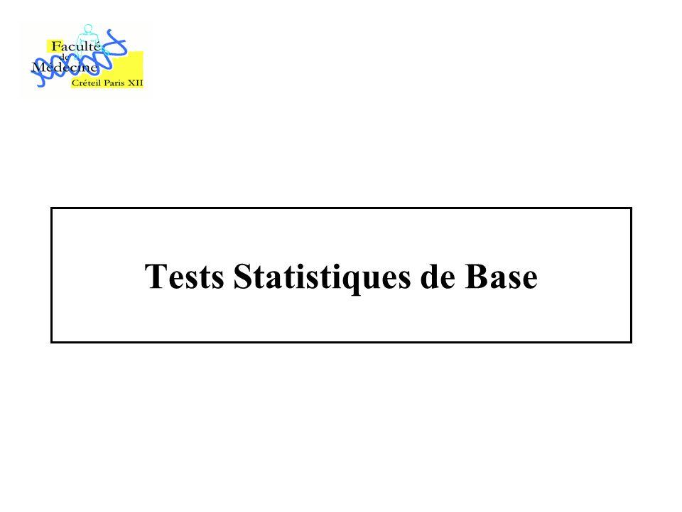 Tests Statistiques de Base