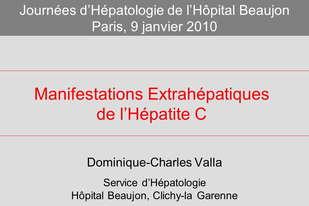 Manifestations Extrahépatiques de l'Hépatite C