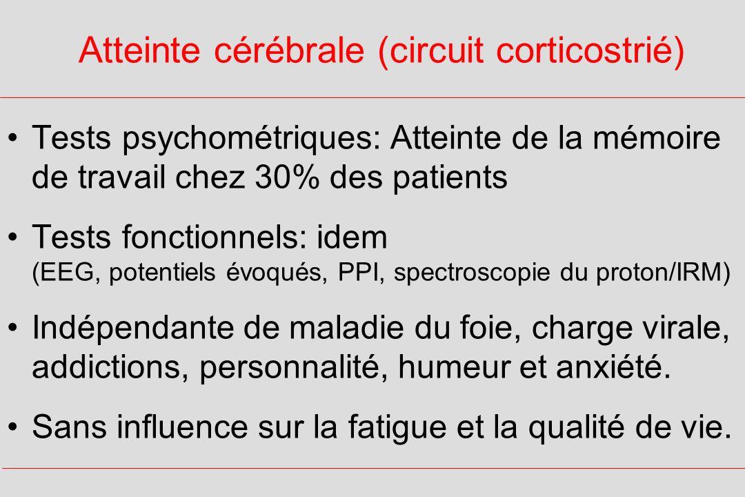 Atteinte cérébrale (circuit corticostrié)