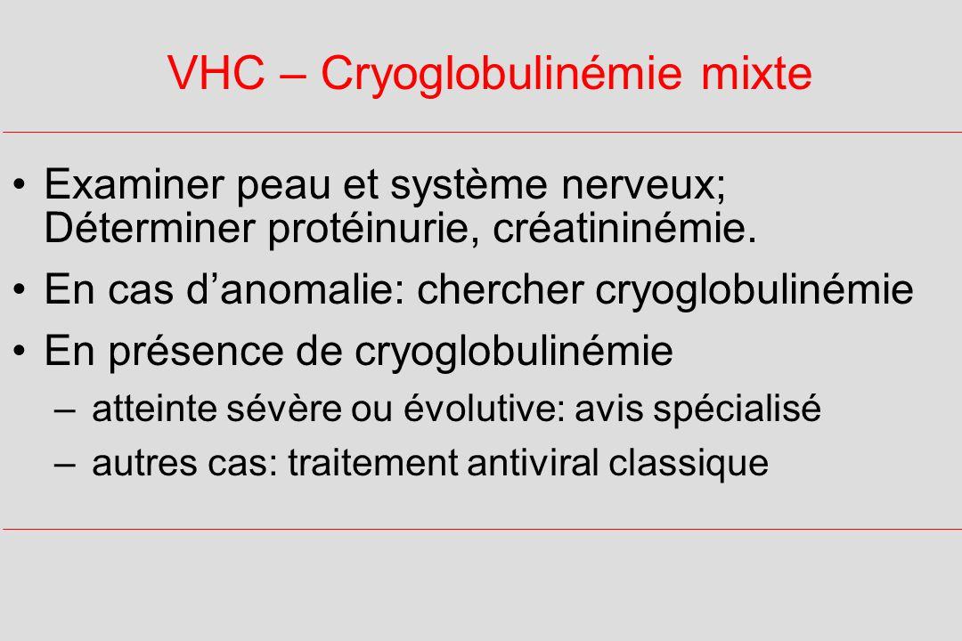 VHC – Cryoglobulinémie mixte
