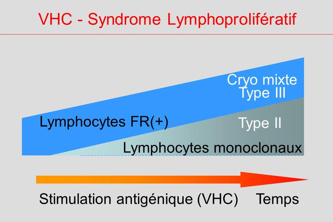 VHC - Syndrome Lymphoprolifératif