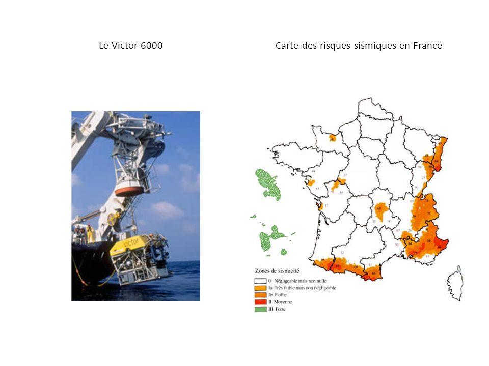 Le Victor 6000 Carte des risques sismiques en France