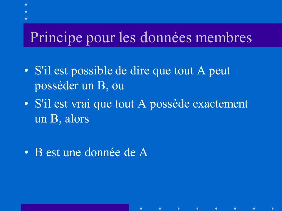 Principe pour les données membres
