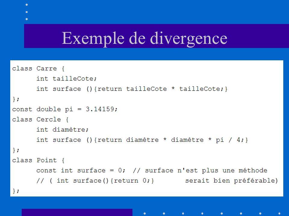 Exemple de divergence