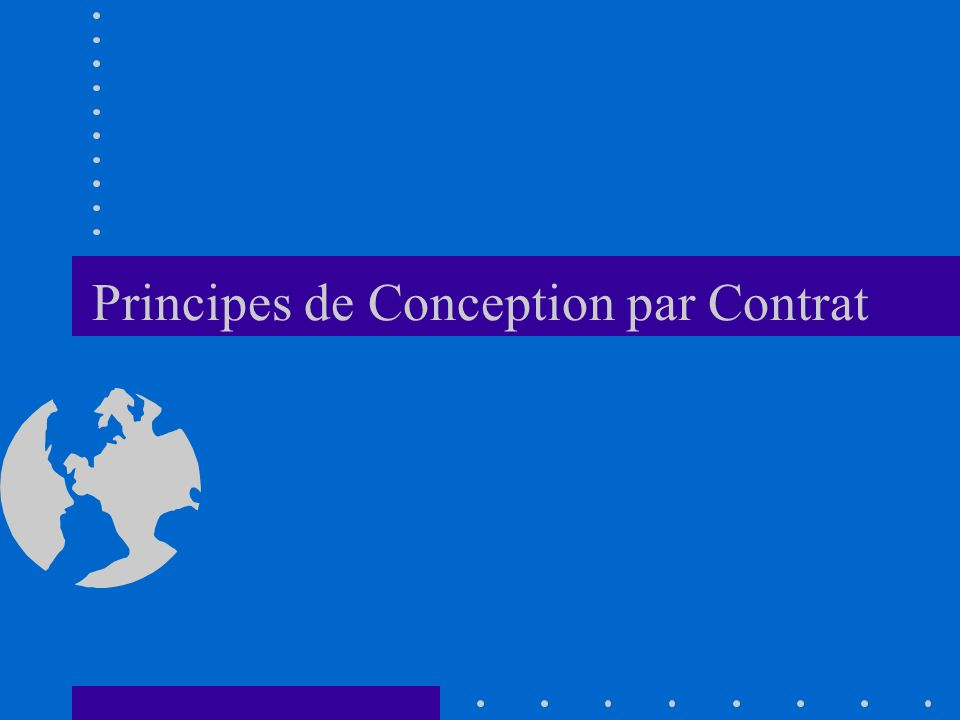 Principes de Conception par Contrat