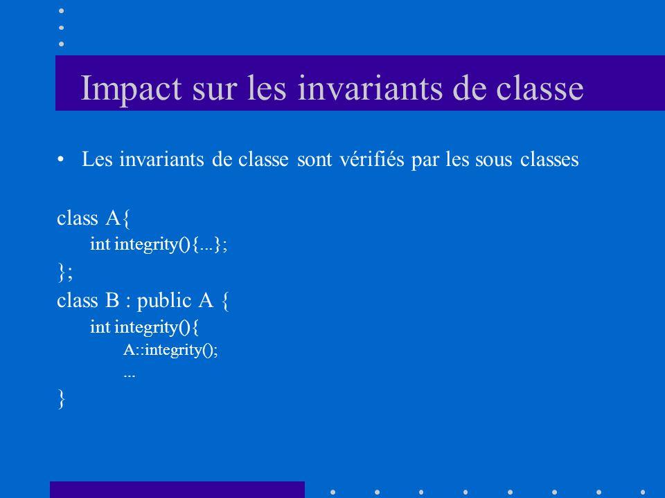 Impact sur les invariants de classe