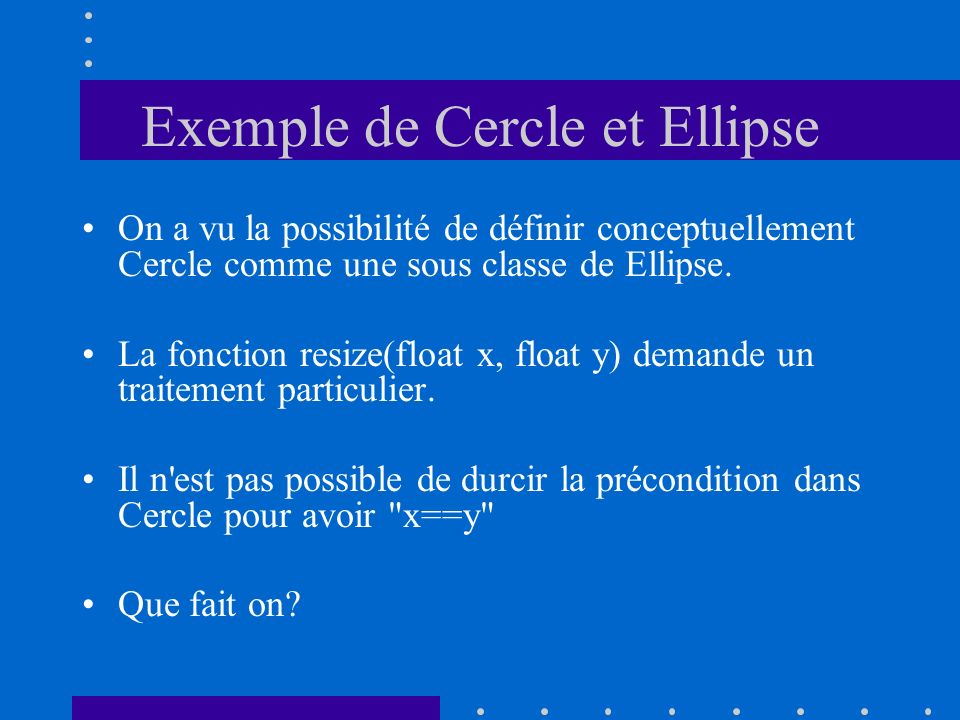 Exemple de Cercle et Ellipse