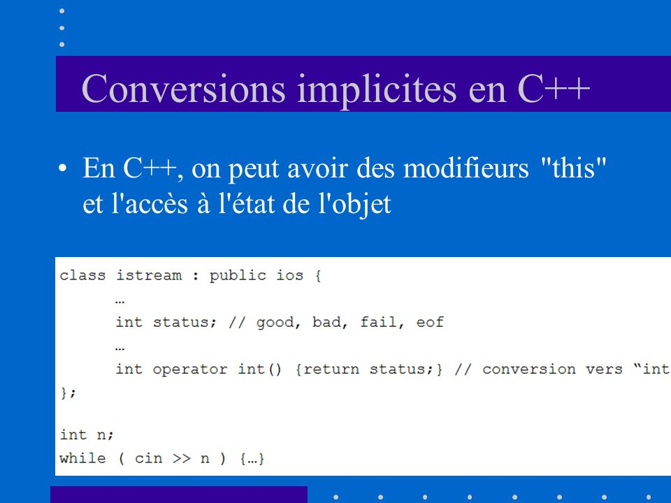 Conversions implicites en C++