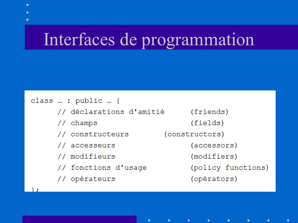 Interfaces de programmation