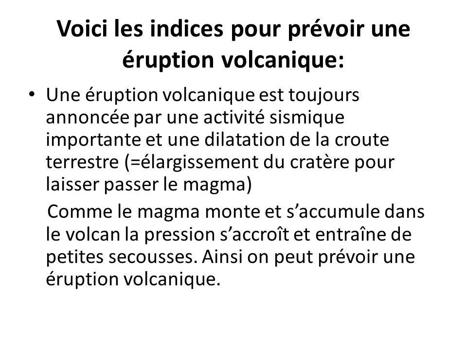 Voici les indices pour prévoir une éruption volcanique: