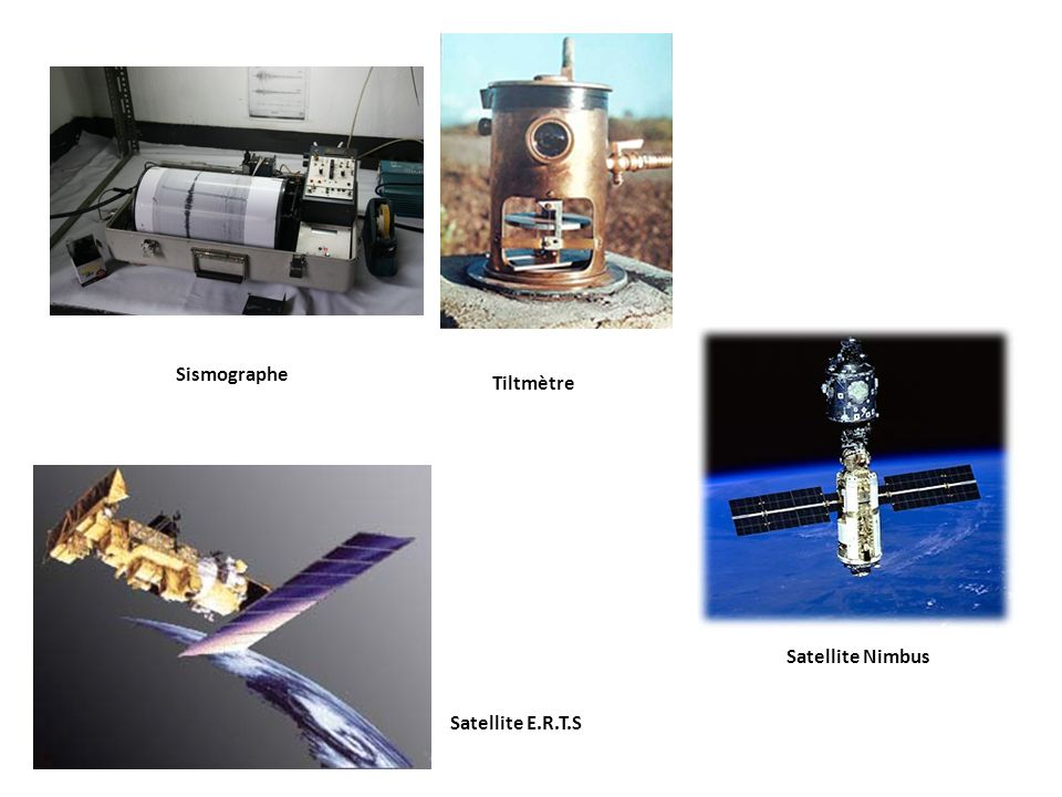 Sismographe Tiltmètre Satellite Nimbus Satellite E.R.T.S