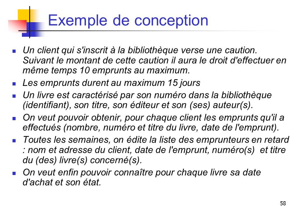 Exemple de conception