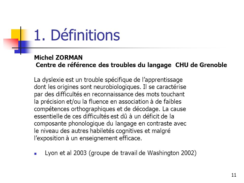 1. Définitions Michel ZORMAN