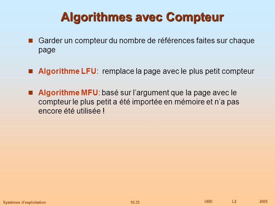 Algorithmes avec Compteur