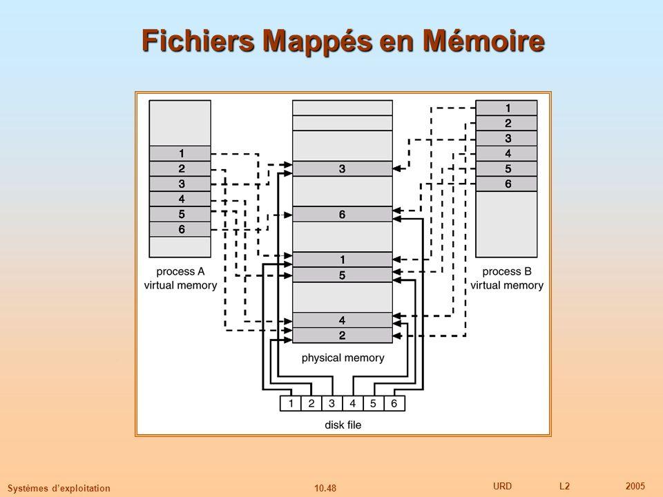 Fichiers Mappés en Mémoire