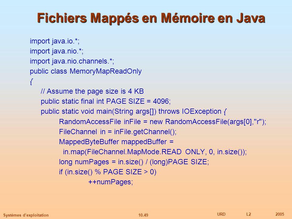 Fichiers Mappés en Mémoire en Java