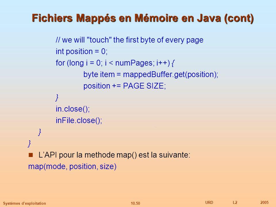 Fichiers Mappés en Mémoire en Java (cont)