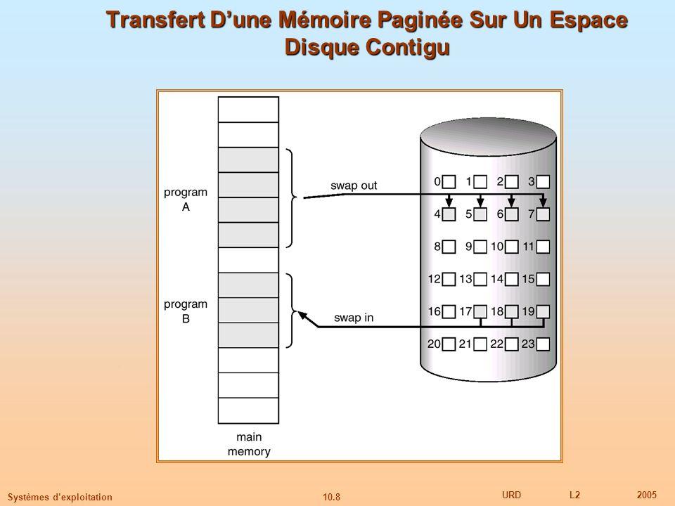 Transfert D'une Mémoire Paginée Sur Un Espace Disque Contigu