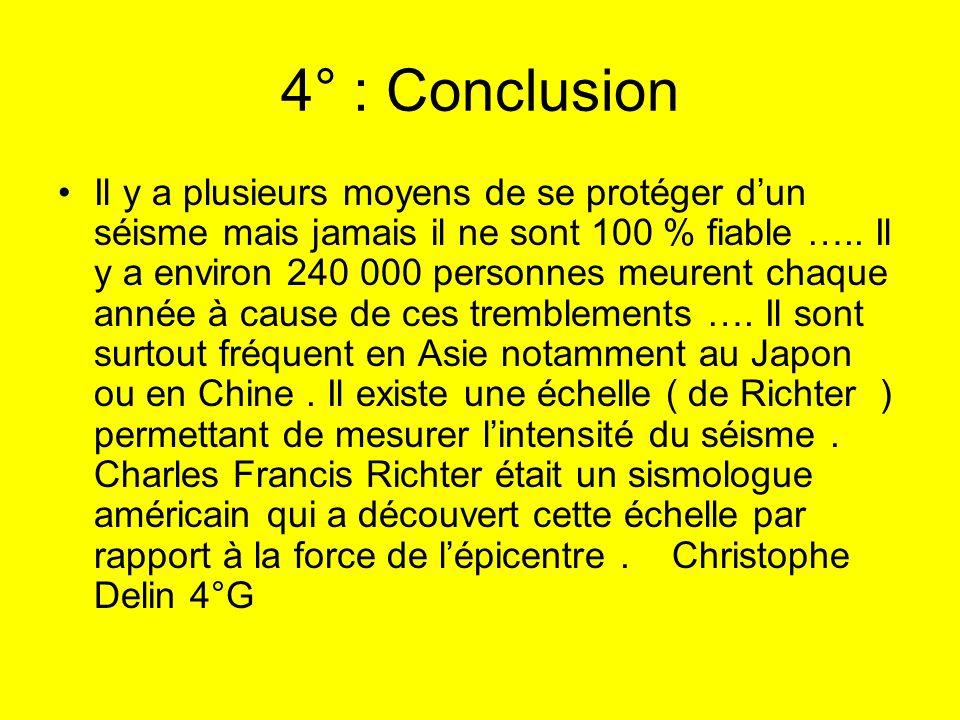 4° : Conclusion