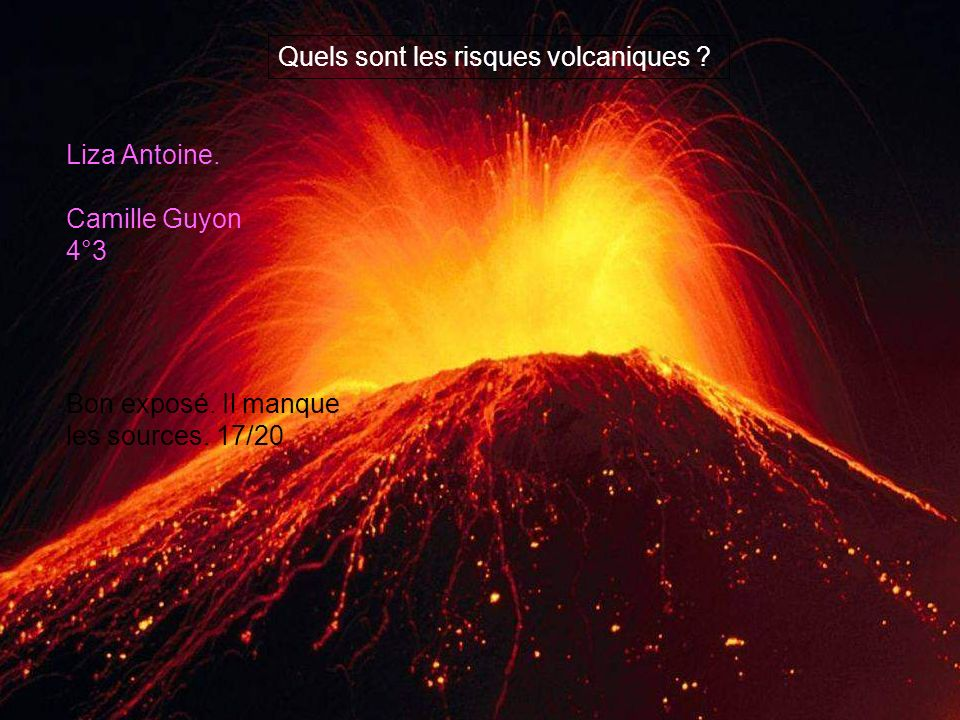 Quels sont les risques volcaniques