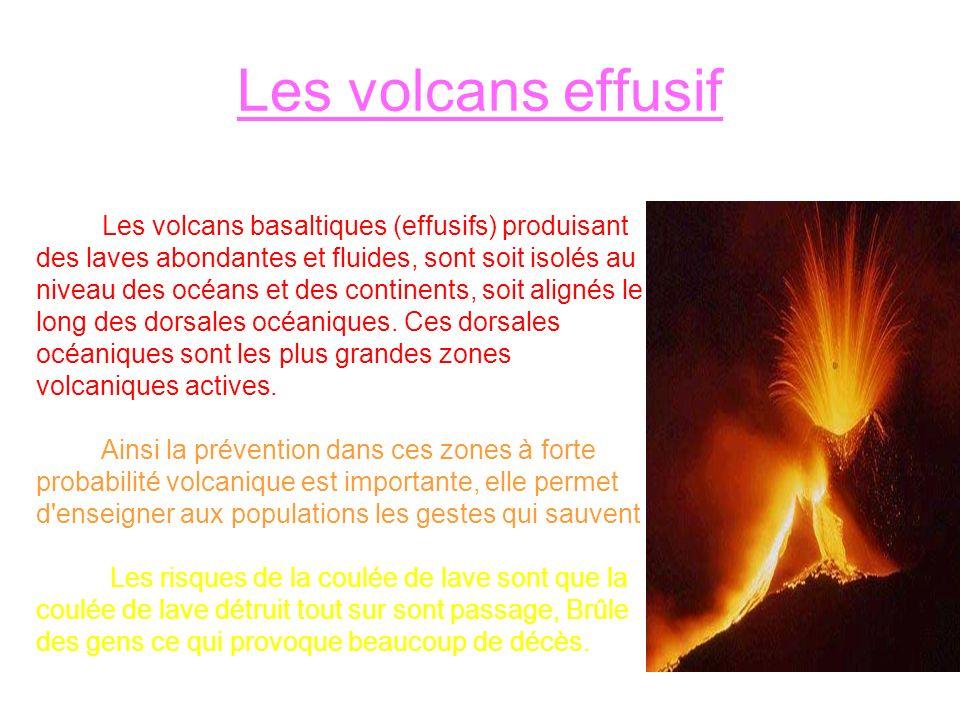 Les volcans effusif